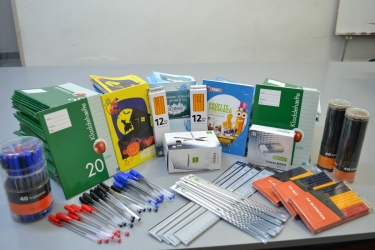 School supplies for inmates students from Aiud Prison